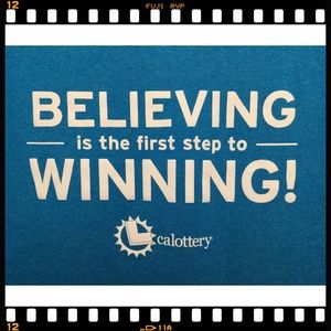 Port & Company Shirts - T-Shirt~CA~California~Lottery~Believing~Winning~